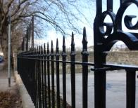 Cast iron railings